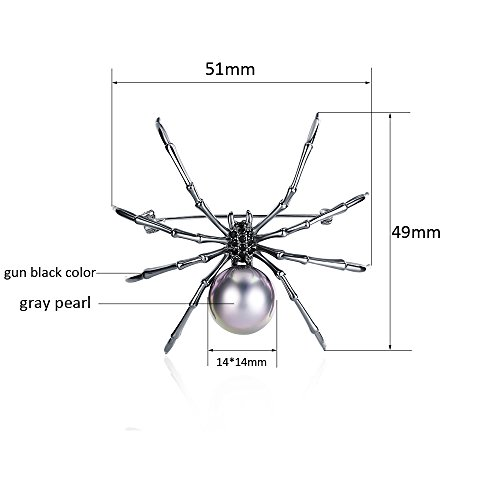 Mytys Spider Pin Brooch Drop Pendant for Women Gun Color Plated by Mytys (Image #5)