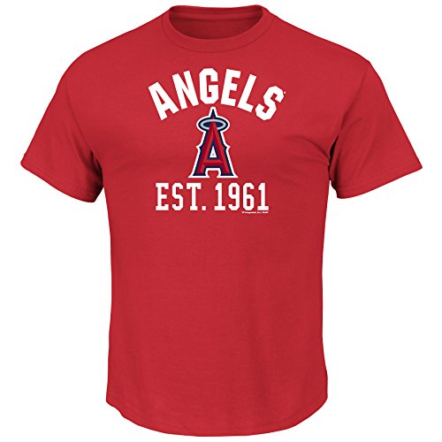 MLB Los Angeles Angels Men's Fearsome History Tee, Red, Large Los Angeles Angels Team Store