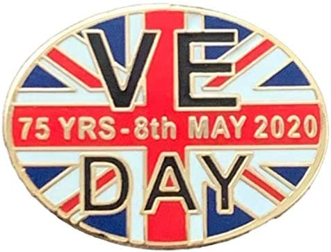 V.E. Day, Victory in Europe 75th Anniversary 2020 Oval Enamel ...