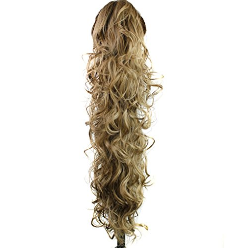 """S-ssoy 31""""(78cm) Women's Curly Pony Tail Hair Piece Synthetic Claw Clip Ponytail Wavy Long Curled In Hair extension Extensions Long/Voluminous Wig Hairpieces For Women Girls Lady,16M18#"""