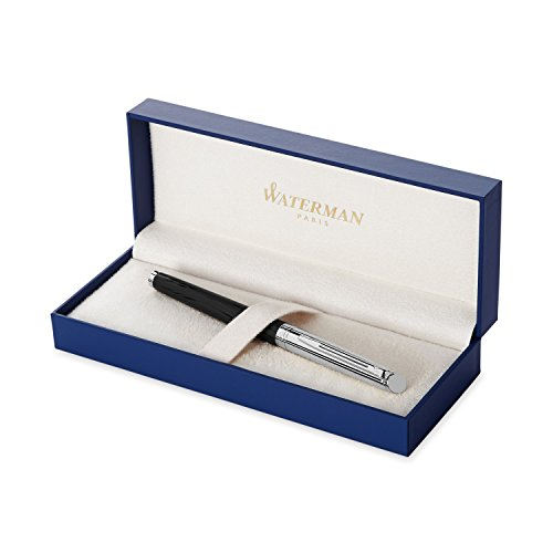 Waterman Hemisphere Deluxe Silky Black, Fountain Pen with Medium nib and Blue ink (S0921190)