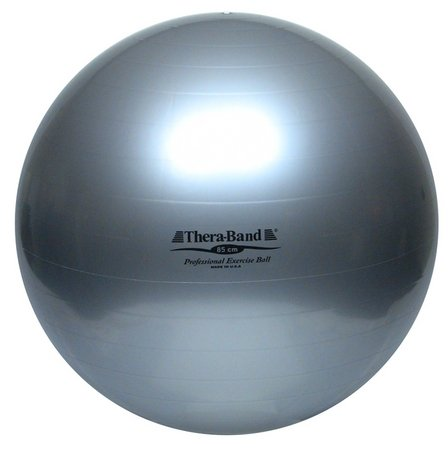 (Thera-Band Standard Exercise Ball, 85 cm, Silver)