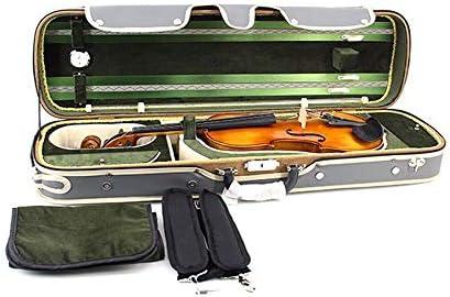 Estuche rígido de violín Estuche rígido profesional para violín liviano con higrómetro Manija Bloqueo Cremallera Mochila Correas Estuche rígido oblongo violín Estuche rígido gris Tamaño completo 4 / 4: Amazon.es: Hogar
