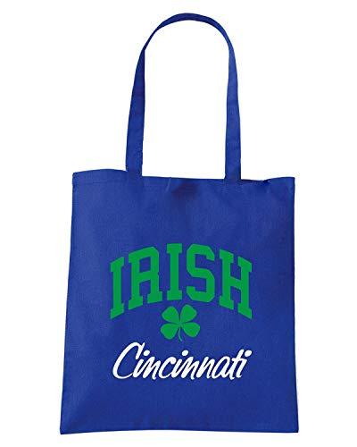 Borsa Shopper Royal Blu TIR0026 CINCINNATI IRISH