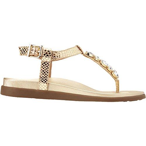Vionic Palm Boca  Womens Sandal Gold Snake   9 Medium