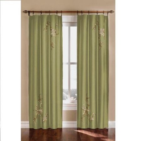 Panel Window Alesandra (Alesandra Floral Accent Window Curtain Panel Sage 84- inch WLM)
