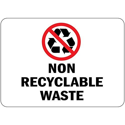 Decals Waste Recyclable - Non Recyclable Waste OSHA Vinyl Label Decal Sticker 12