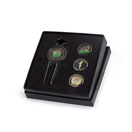 Course Wave Divot Tool & Ball Markers Set (Spyglass Pebble Beach)