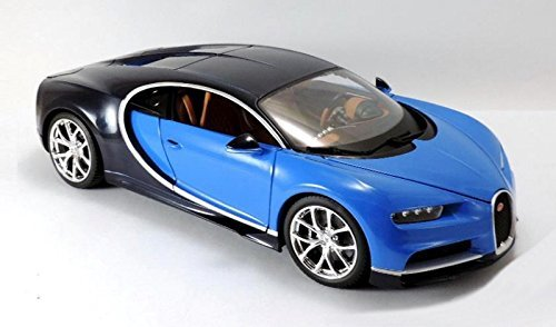 (2016 Bugatti Chiron Blue 1/18 Diecast Model Car)