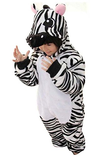 Cosplay Halloween Unisex Childrens' Costume Cute Party Animal Pajamas One-Piece Zebra M