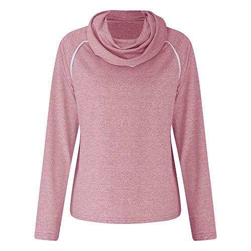 Casual Sweatshirt,Womens's Winter Long Sleeve Solid Cowl Neck