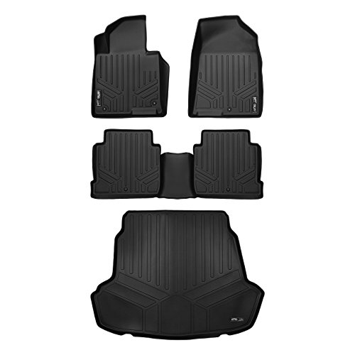 MAX LINER A0218/B0218/D0218 Custom Floor Mats-Cargo Liner Set Black for 2015-2019 Hyundai Sonata Hybrid/2016-2019 Kia Optima Non Hybrid