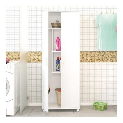 Superieur Freestanding Two Door Cabinet For Laundry Or Utility Room Storage Made W/  Wood:MDF