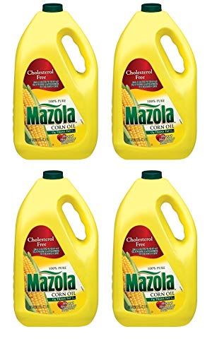 Mazola 100% Pure Corn Oil, 128 oz, naturally cholesterol free (Pack of 4) by Mazola