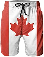 Maria Oro National Flag of Canada Canadian Country Men's Classic Fit Perfect Short Summer Beach Swim Tr
