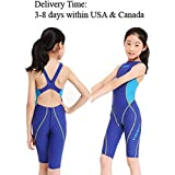 YingFa One Piece Racing Swimsuit for Girls Kneeskin Technical Swimsuit Training Swimsuit Girl's Size 4-6 /Speedo Size 24/China Size XS, 953-3