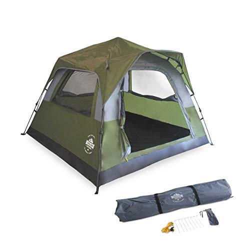 Lumaland Leichtes Outdoor Pop Up Comfort Zelt Wurfzelt für 2-3 PersonenZelt Camping Reise Trekking Festival Sekundenzelt 210 x 210 x 140 cm Tragetasche