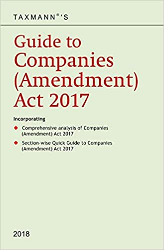 Guide to Companies (Amendment) Act 2017 (2018 Edition)