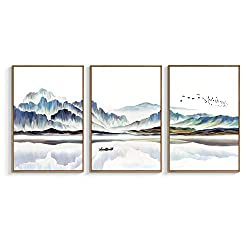 NWT Framed Canvas Wall Art for Living Room, Bedroom Canvas Prints for Home Decoration Ready to Hanging - 24x36x3 Panels