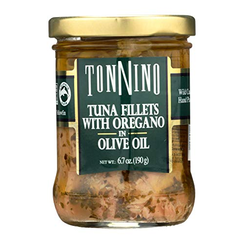 Tonnino Tuna Filet,Oregano/Olvoi 6.7 Oz (Pack Of 6)