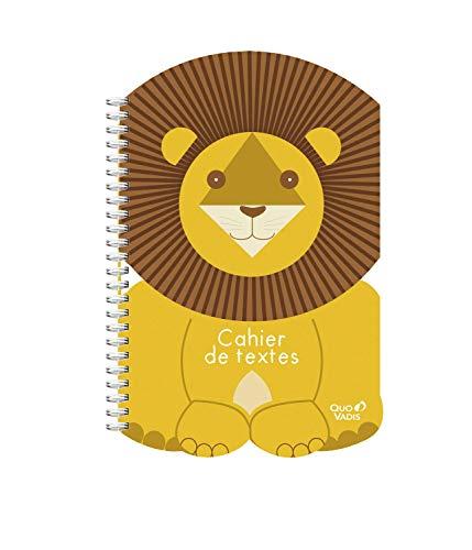 Quo Vadis Kawaii CAHIER DE TEXTES Spirale 15x21cm Lion