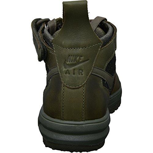 Nike Donne Lf1 Flyknit Workboot Hi Top Stivali Formatori 860558 Scarpe Da Ginnastica Blu Grigio