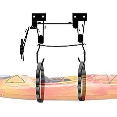 Sistema para colgar kayak del techo 3