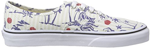 Basse Multicolore Unisex Authentic Ginnastica Vans da Scarpe White True Hula Stripes Adulto wU0xFI
