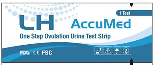 AccuMed Ovulation (LH) Test Strips Kit, Clear and Accurate Results, FDA Approved and Over 99% Accurate, 50 count