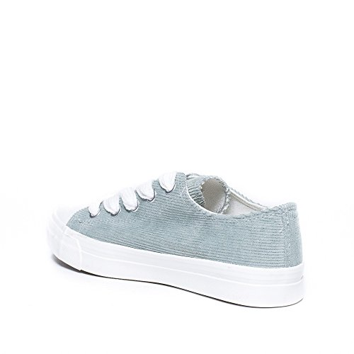 Ideal Shoes, Damen Sneaker Grün