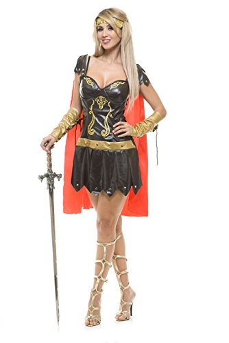Charades Women's Warrior Queen Costume, As As Shown -