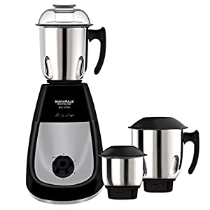 Maharaja Whiteline MX-213 Joy Turbo HD 1000W Mixer Grinder Premium Black and Silver