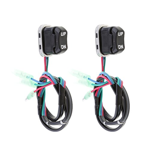 Homyl 2 Pcs 703-82563-02-00 703-82563-01-00 TRIM & TILT switch A for Yamaha Outboard Motors