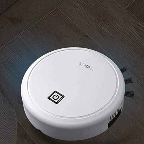 Aspirateur et Balai à Franges Ultra-Mince Silencieux USB de Charge avec Une Forte Aspiration, Convient aux Animaux des Cheveux, des Tapis et Tous Les Types de sols ANJT