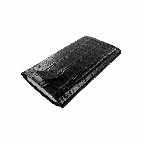 Piel Frama U598CO Krokodil Optik Pull Ledertasche für Apple iPhone 5/5S/5C schwarz