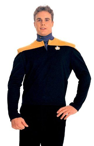 Amazon.com: Deep Space Nine Gold Shirt Costume - Large - Chest Size 42-44: Clothing