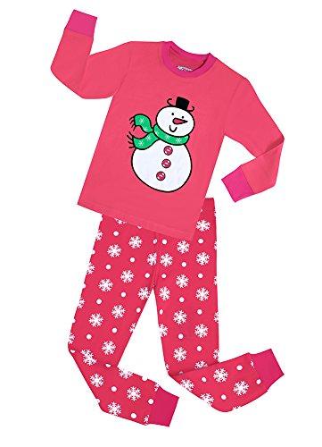 Girls Pink Snowman - 6