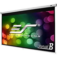 Elite Screens Manual B, 100  16:9, Manual Pull Down Projector Screen 4K / 3D Ready with Slow Retract Mechanism, 2 Year Warranty, M100H