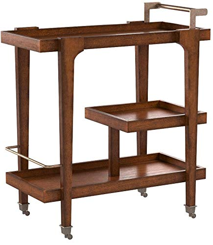 Holly and Martin Zhori Bar Cart in Dark Tobacco and Aged Brass by Holly & Martin