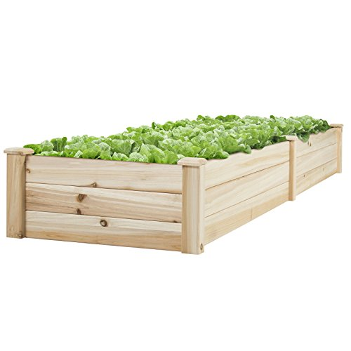 BCP Wooden Raised Vegetable Garden Bed Patio Backyard Grow Flowers Planter by CS_SHOP