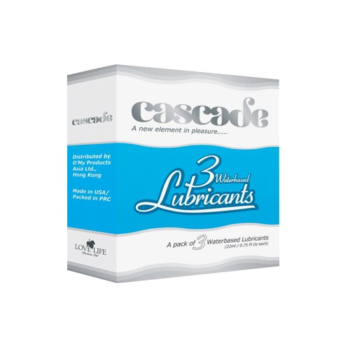 Cascade Waterbased Lubricant Cartridges, 3 Count