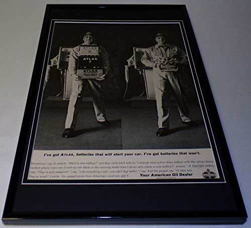 1963 American Oil Amoco Framed 11x17 ORIGINAL Vintage Advertising Poster