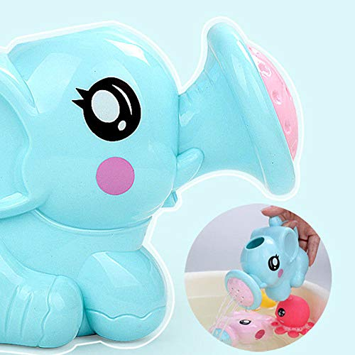 AMOFINY Baby Toys Baby Bathing Water Toy Elephant Shower Parent-Child Interactive Toy Cute Baby Bath Animals Toys Shower Kid's Water Tub Bathroom Playing Toy Gifts
