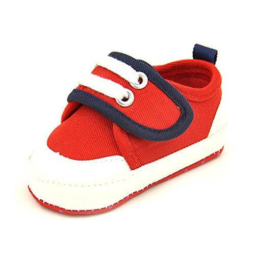 Leap Frog Sports Sneakers - Zapatos primeros pasos de Lona para niña Red