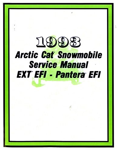 Download 2254-828 1993 Arctic Cat Pantera EXT EFI Snowmobile Service Manual ebook
