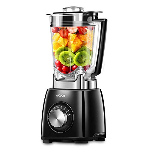 Aicook Blender, 1450W Professional Blender, 35000RPM Countertop High Speed Blender with 72oz Jar, 4 Speeds and 4 Presets Self-Clean Ice Smoothie Maker for Home and Commercial Using