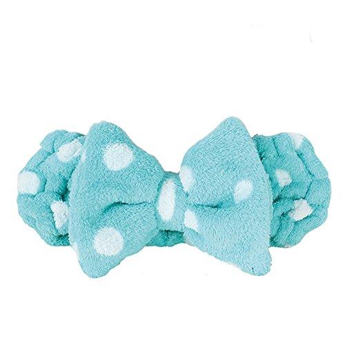Adela Blue Polka Dot Soft Coral Velvet Make-up Face Wash