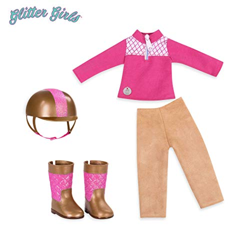 "Glitter Girls by Battat - Ride & Shine Deluxe Equestrian Outfit - 14"" Doll Clothes & Accessories For Girls Age 3 & Up - Children"