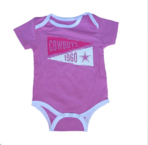 Genuine Merchandise Dallas Cowboys Infant Size 6 Months Onesie Team Logo Creeper - Pink