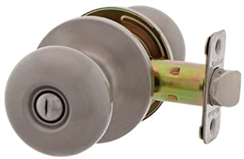 MaxGrade 200WAT15 Watson Privacy Bed/Bath Door Knob Lockset, Satin ...